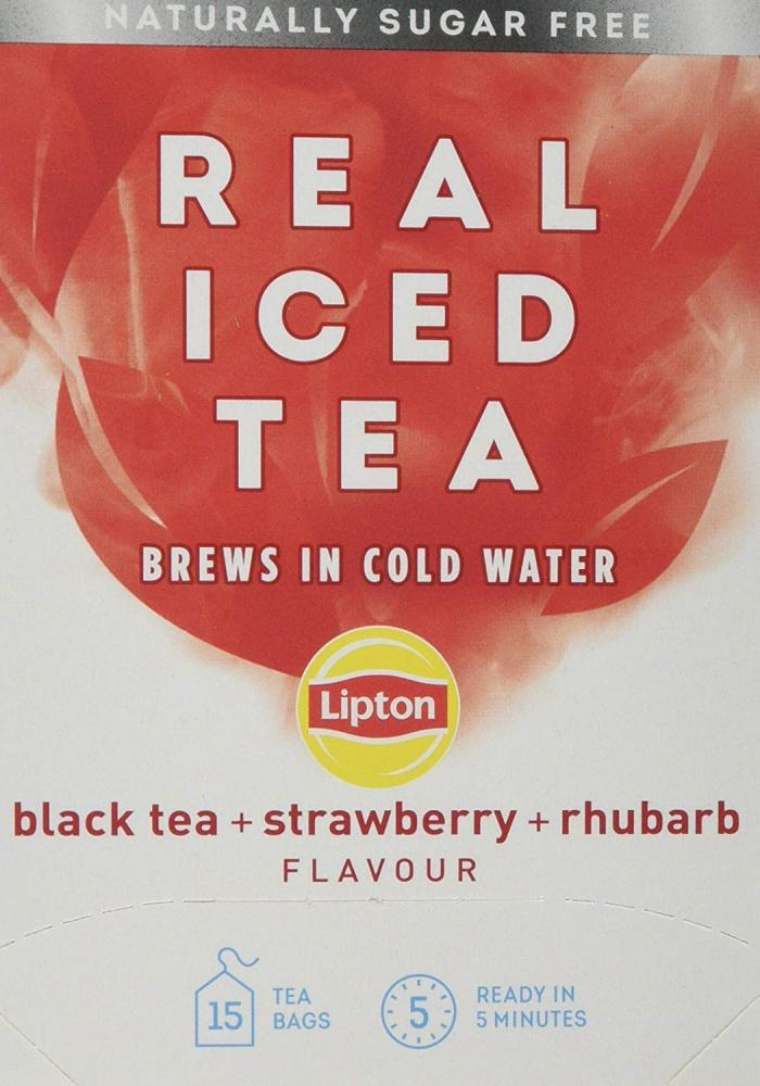 Lipton Real Iced Tea Strawberry and Rhubarb Flavour 15 teabags