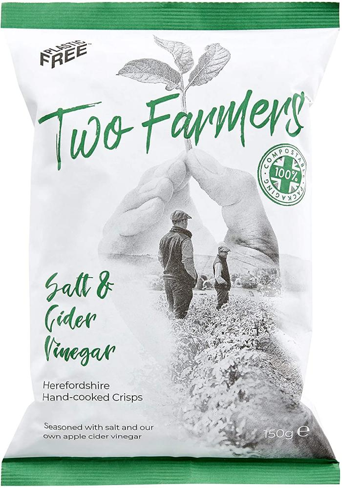 Two Farmers Salt and Cider Vinegar Hand Cooked Crisps 150 g