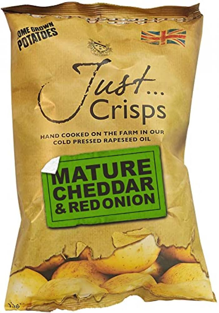 Just Crisps Mature Cheddar and Red Onion 150g