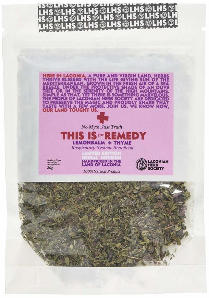 Laconia Herb Society Greek Herbal Tea Lemonbalm and Thyme 20g