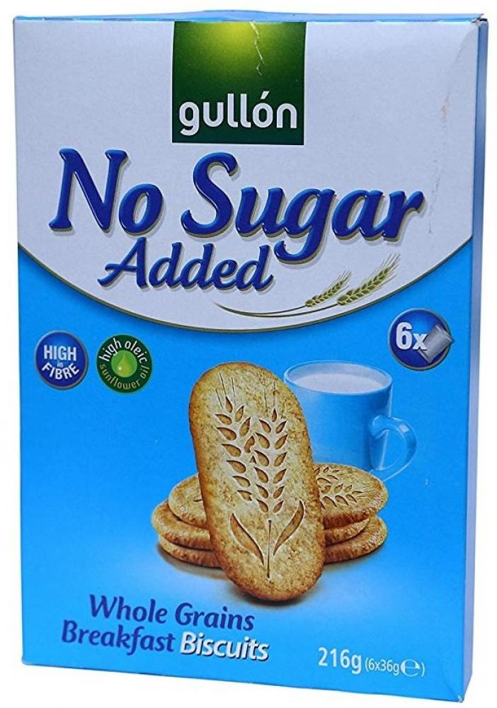 Gullon No Added Sugar Whole Grains Breakfast Biscuits 216g