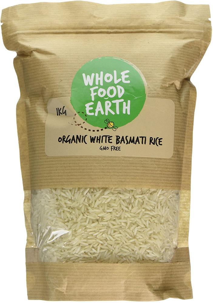 Whole Food Earth Organic White Basmati Rice 1Kg