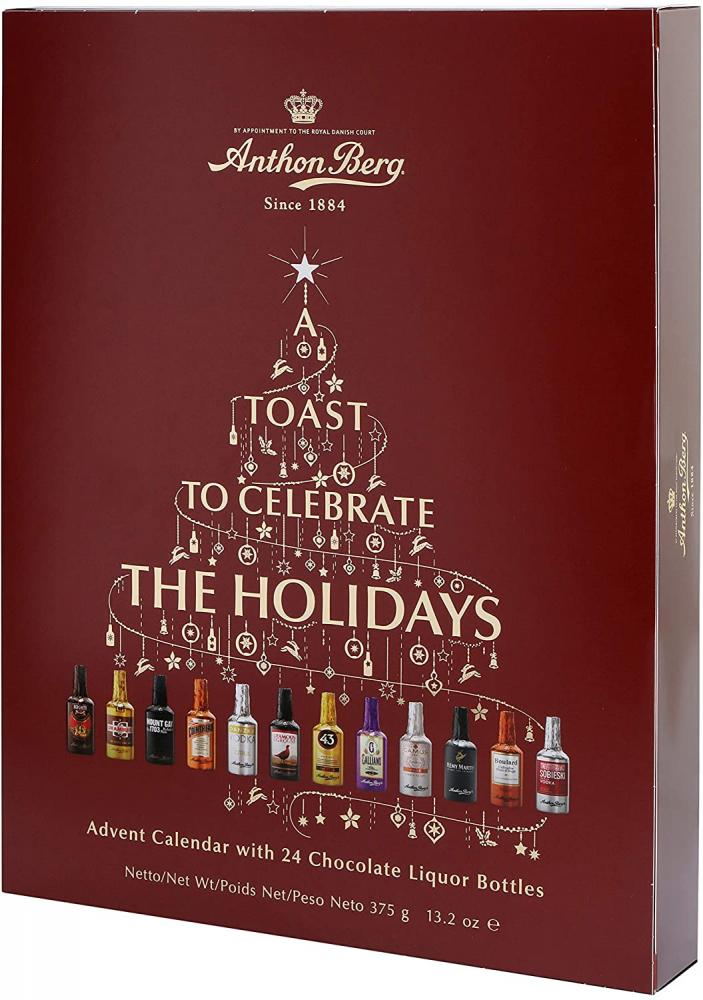 Anthon Berg Chocolate Liqueurs Advent Calendar with Famous Liqueur Brands 375 g
