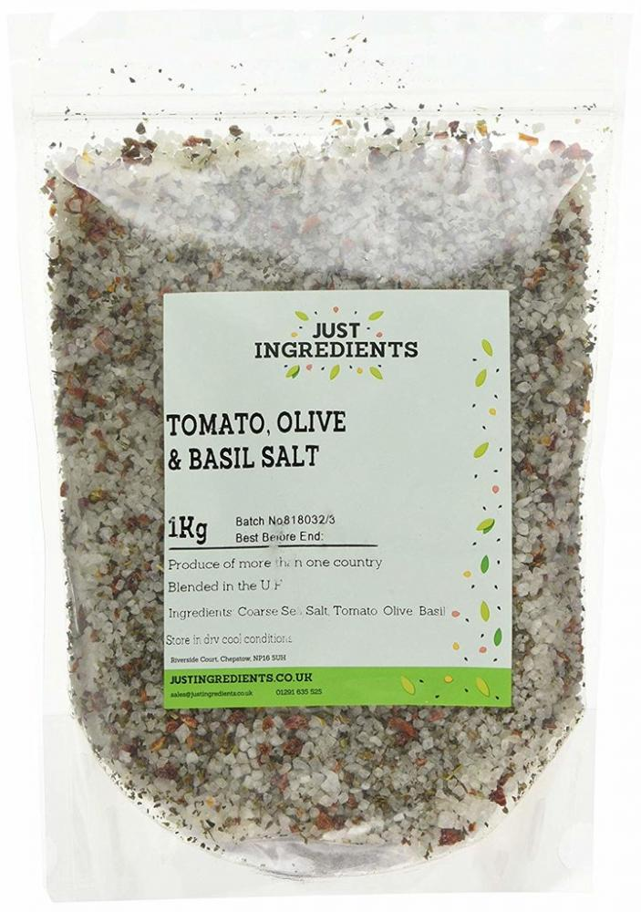 JustIngredients Tomato Olive And Basil Salt 1kg