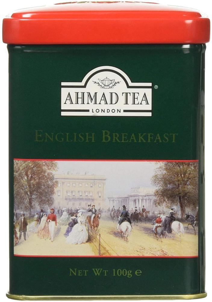 Ahmad Tea London English Scene Caddy with English Breakfast Tea Loose Leaf Tea 100 g
