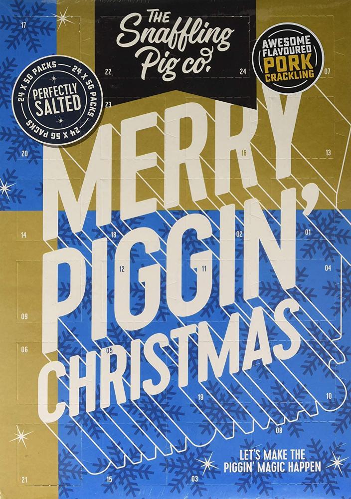 The Snaffling Pig Co Merry Piggin Christmas Advent Calendar 96g Damaged Box