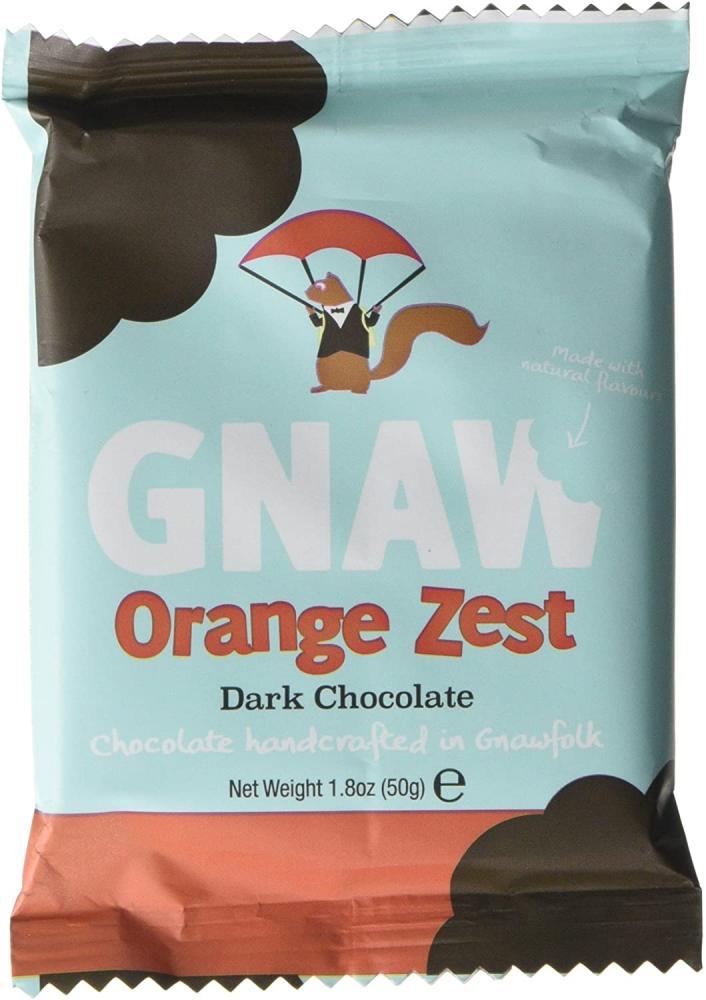 Gnaw Orange Zest Dark Chocolate Bar 50g
