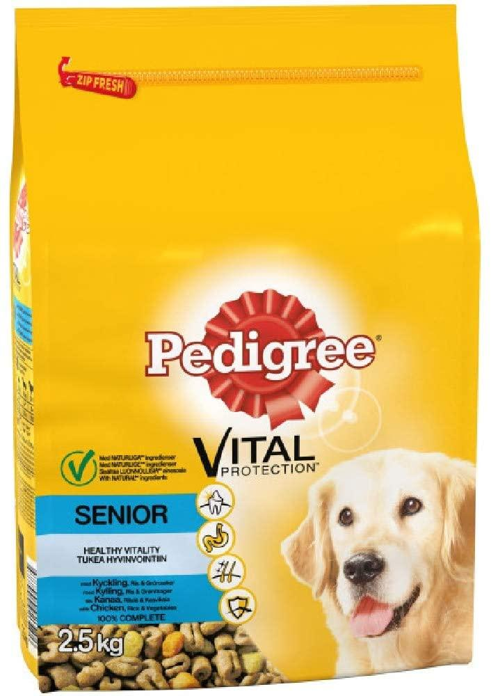 Pedigree Senior Complete Dry Dog Food with Chicken Rice and Vegetable 2.5kg