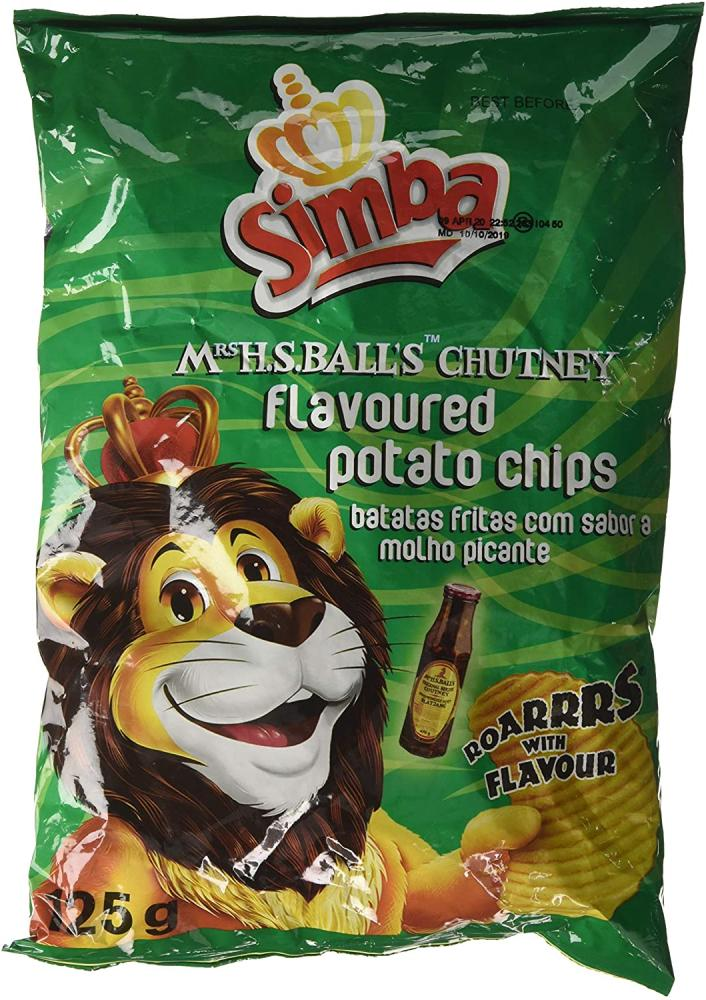Simba Mrs Balls Chutney Flavoured Potato Chips 125 g