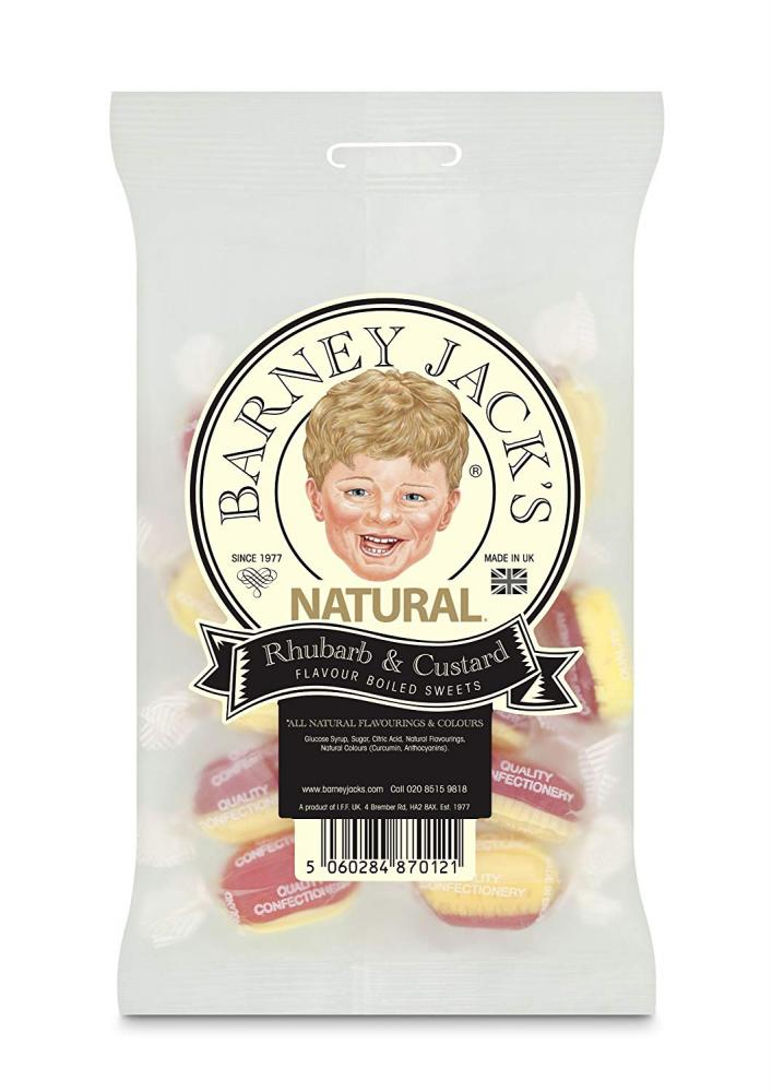 Barney Jacks Natural Rubarb and Custard 125g