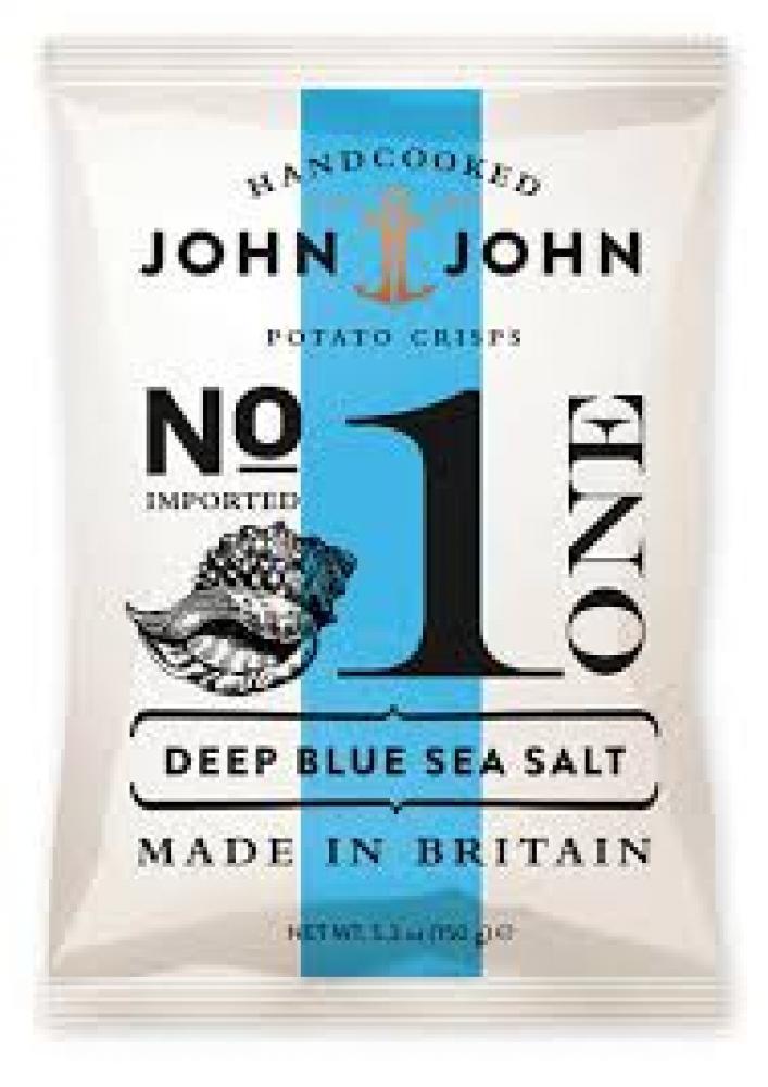 John And John Deep Blue Sea Salt Potato Crisps 150g