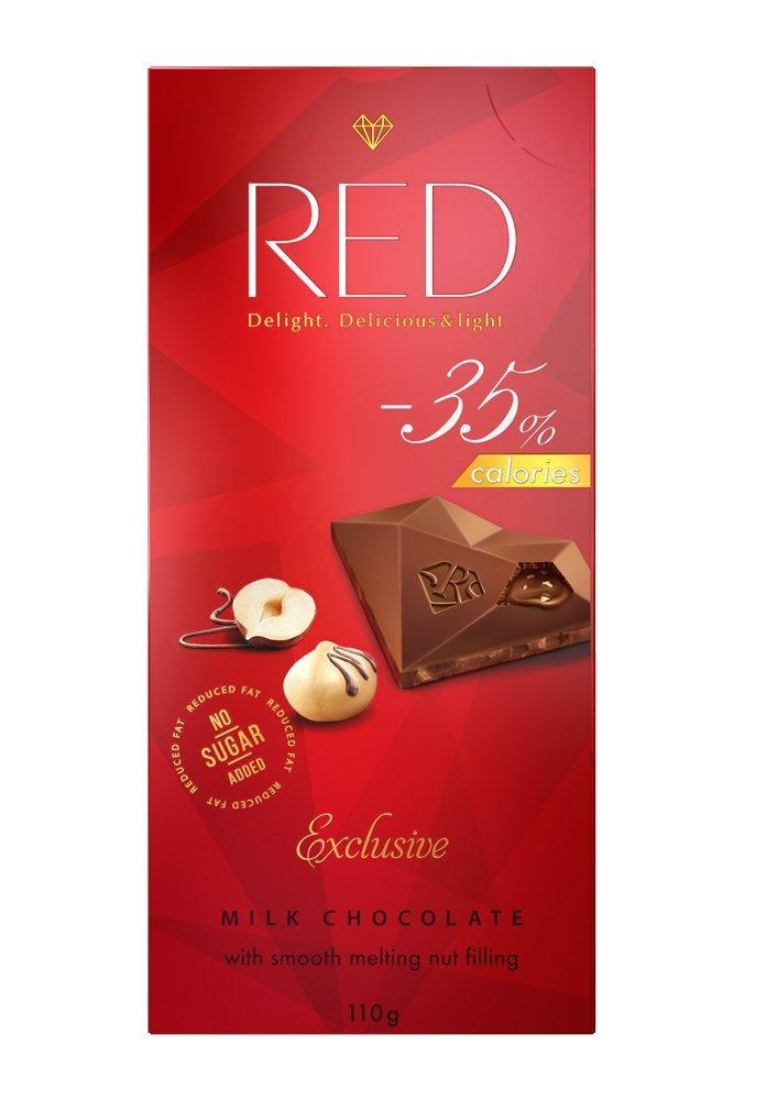 Red Milk Chocolate with Nut Filling 110g