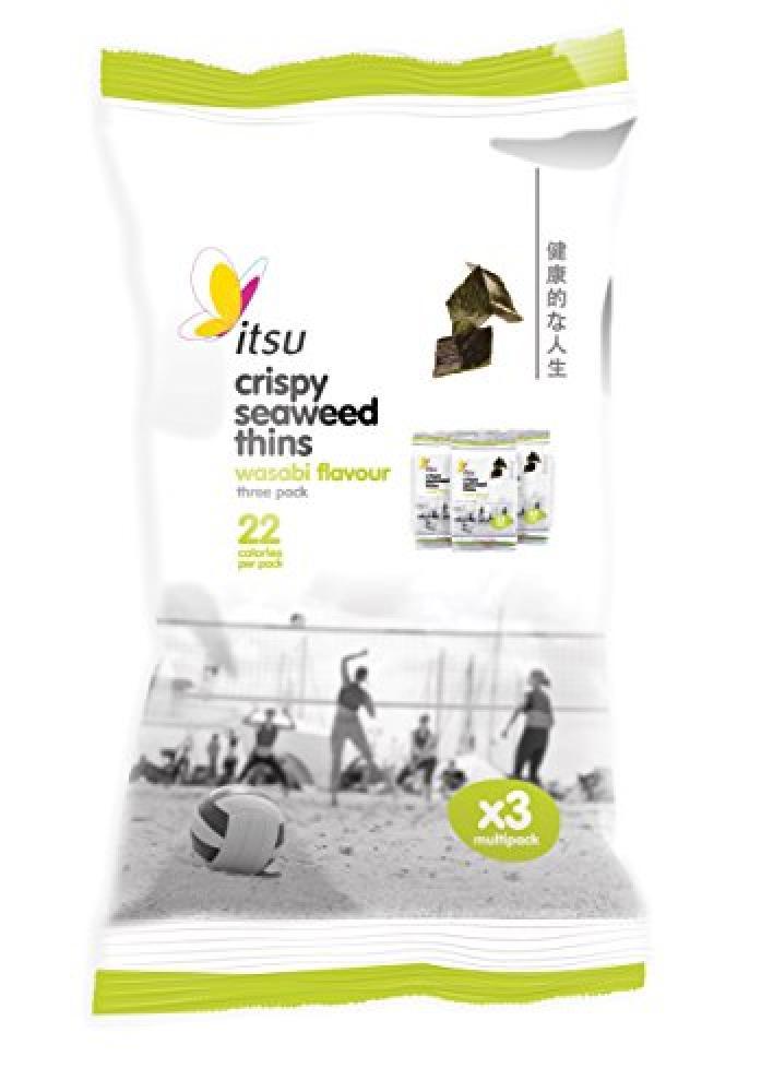 Itsu Wasabi Seaweed Thins 3x5g