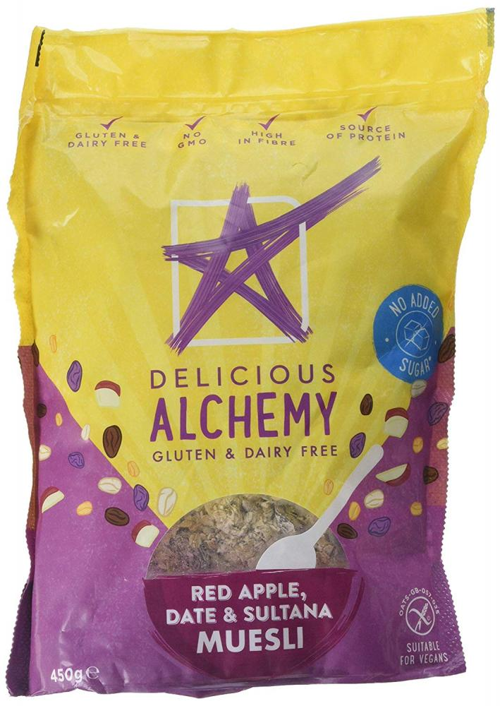 Delicious Alchemy Red Apple Date and Sultana Muesli 450g