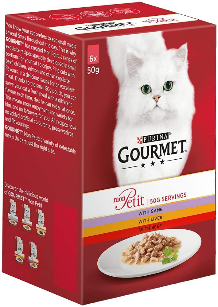 Purina Gourmet Mon Petit Beef Game and Liver 6 x 50g