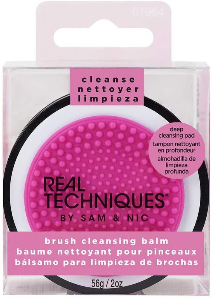 SALE  Real Techniques Brush Cleansing Balm with Deep Cleansing Pad for Makeup Brush Care 56g