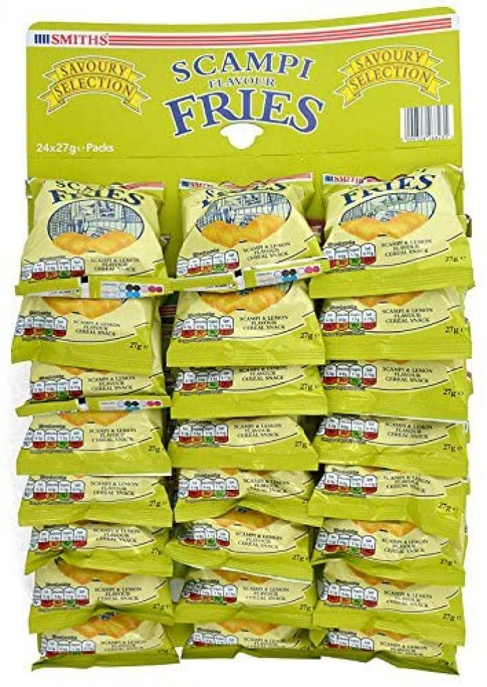 CASE PRICE  Smiths Scampi and Lemon Snacks 24 x 27g