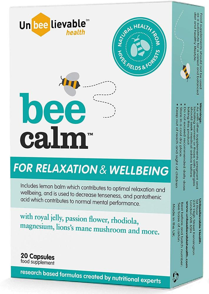 Unbeelievable Health Bee Calm for Relaxation and Wellbeing 20 Capsules