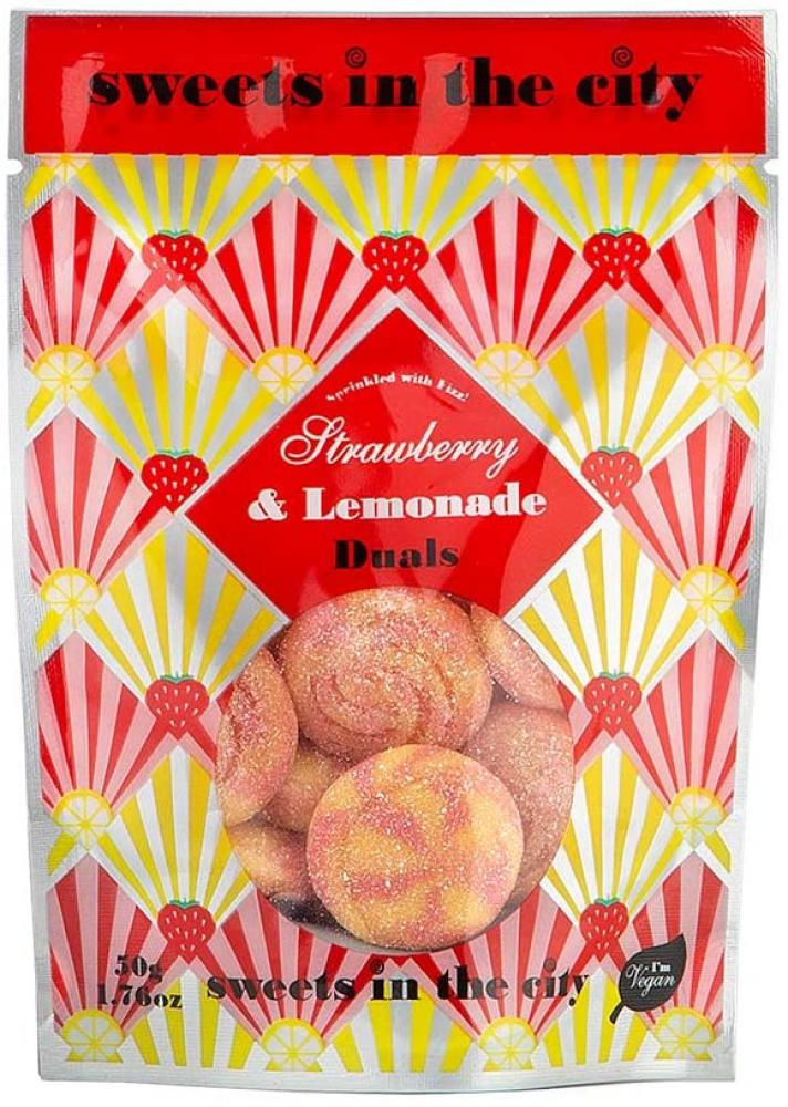 Sweet In The City Strawberry and Lemonade Duals Jelly Sweet Bag 50 g
