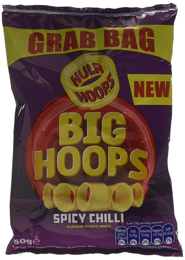 Hula Hoops Spicy Chilli Potato Rings 50g