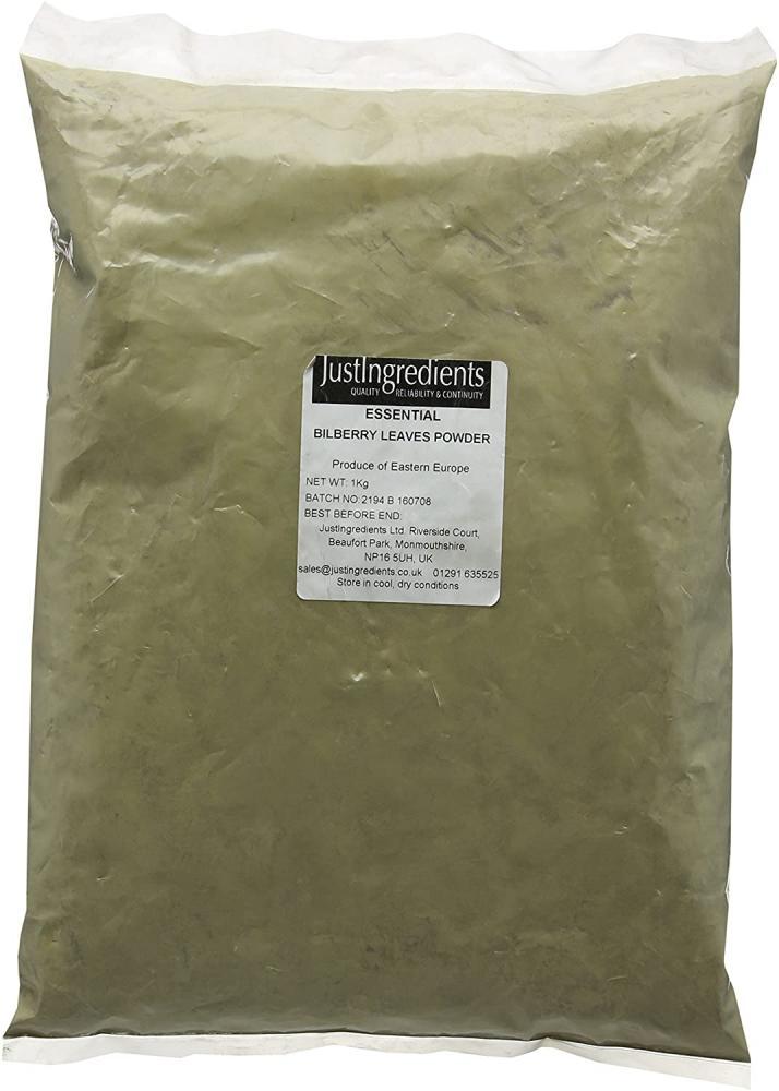 JustIngredients Essentials Bilberry Leaves Powder 1 kg