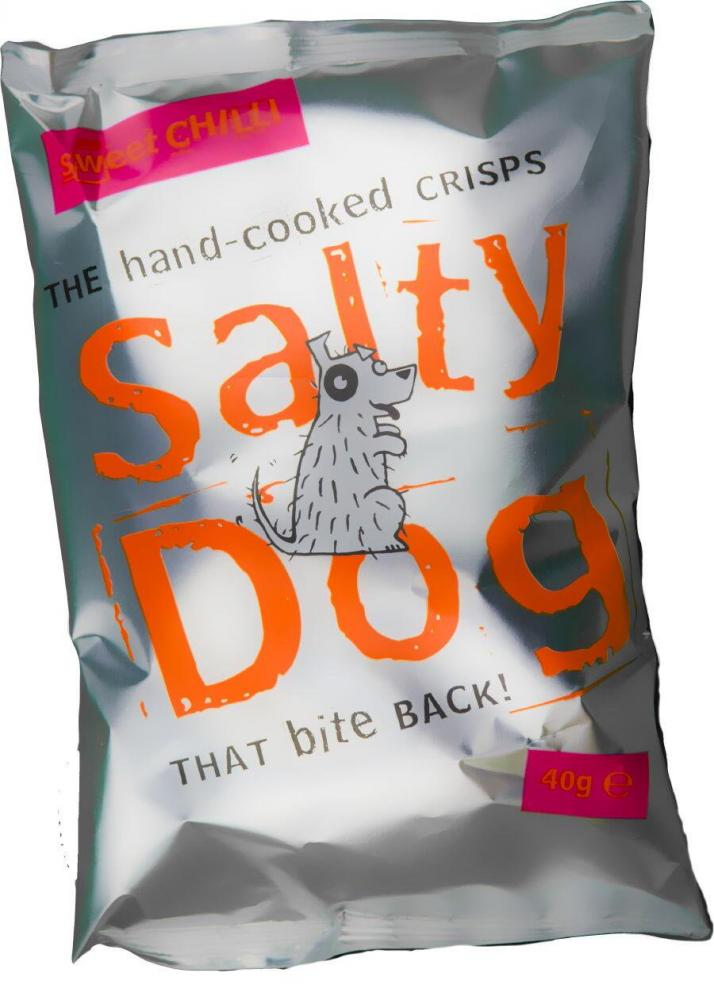 Salty Dog Sweet Chilli Hand Cooked Crisps 40g