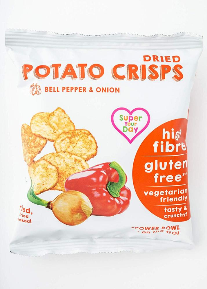 Super Your Day Dried Potato Crisps Bell Pepper and Onion 27g