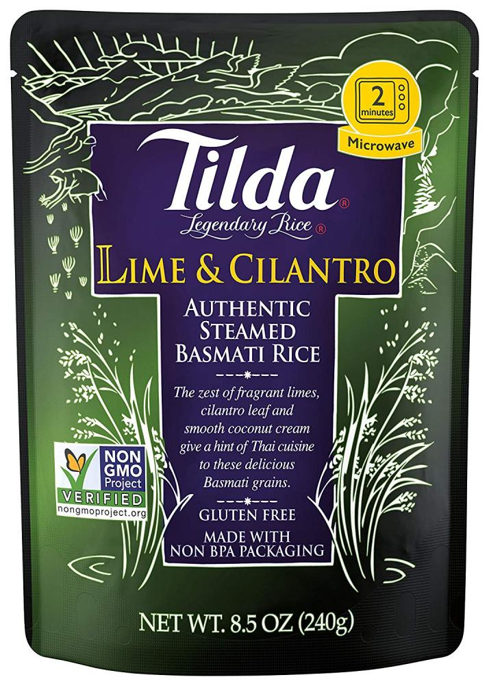 Tilda Lime and Cilantro Basmati Rice 240g