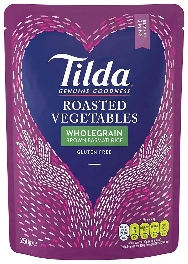 Tilda Steamed Basmati Roasted Vegetable Rice 250 g