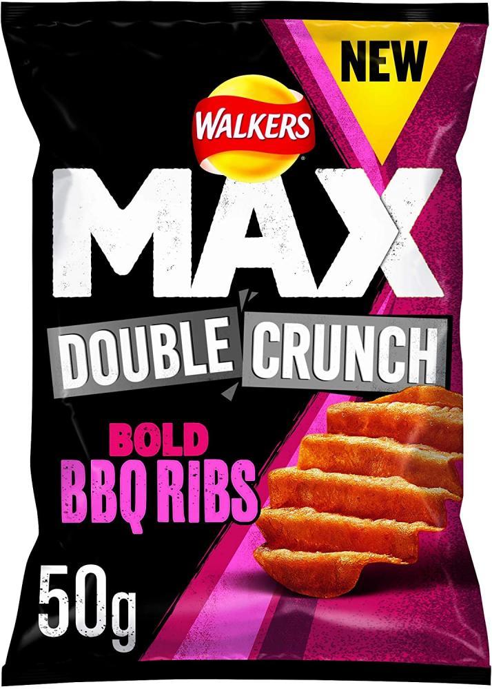 Walkers Max Double Crunch Bold BBQ Ribs Crisps 50g