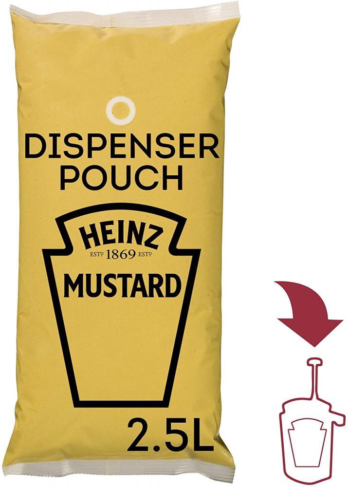 Heinz Yellow Mustard Sauce Pouch 2.5 Litre