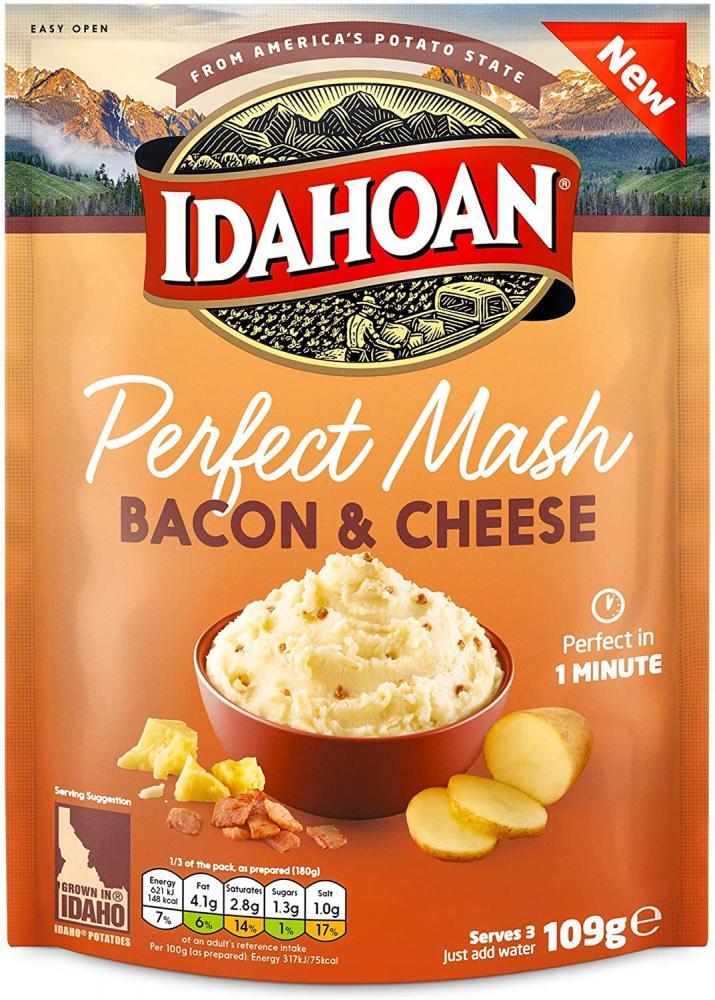 Idahoan Perfect Mash Cheese And Bacon Instant Mash Potato 109g