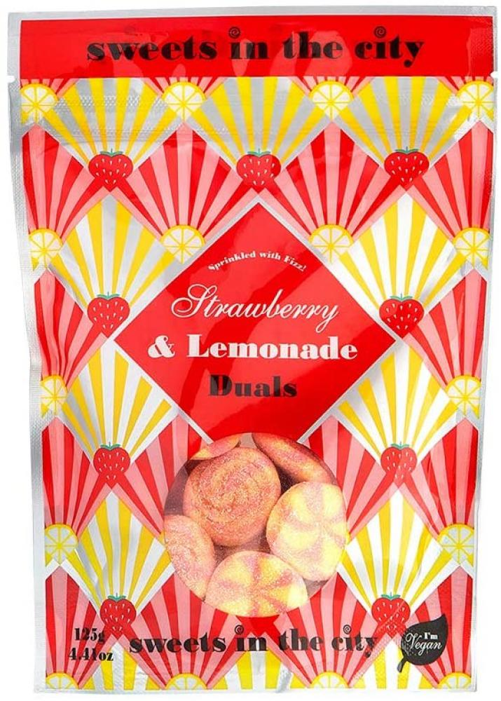 Sweets in the City Strawberry and Lemonade Duals Jelly Sweet Bag 125g