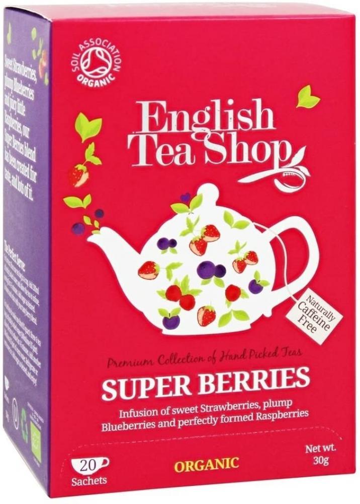 English Tea Shop Organic Tea Super Berries 20 Sachets