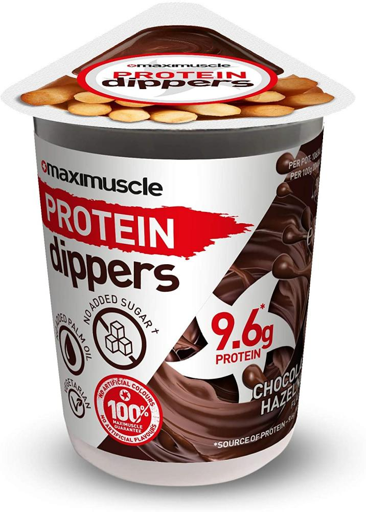 FLASH DEAL  Maximuscle Protein Dippers Chocolate Hazelnut Spread with Breadsticks 52g