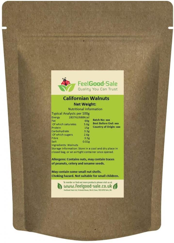 Feel Good Sale Fresh Californian Premium Walnuts Halves 1 kg
