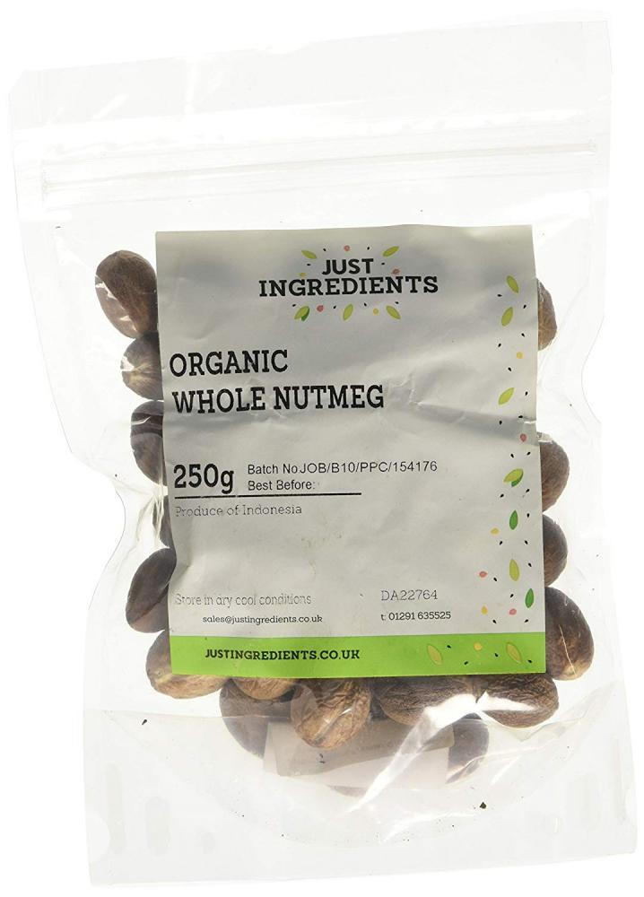 JustIngredients Organic Whole Nutmeg 250 g