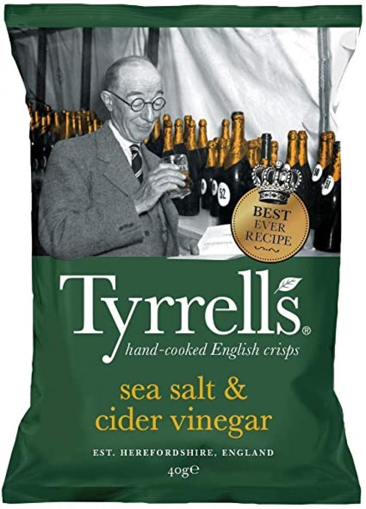 Tyrrells Sea Salt and Cider Vinegar 40g