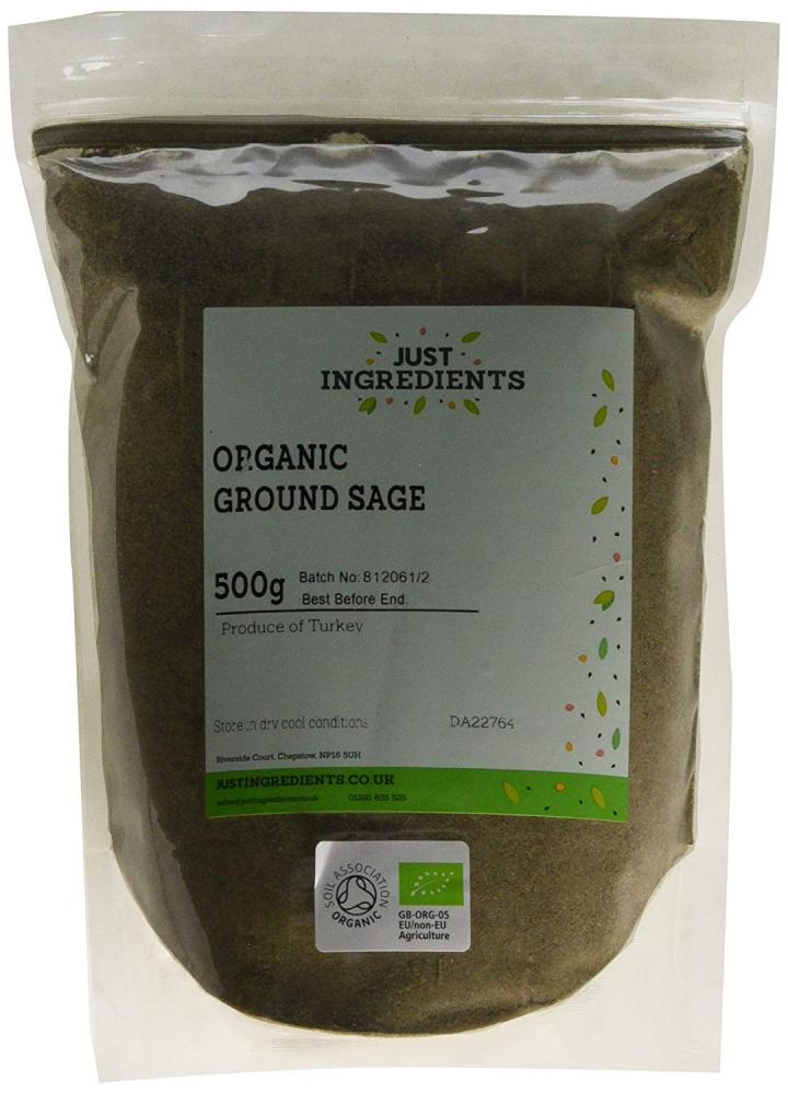 JustIngredients Organic Sage Ground 500g