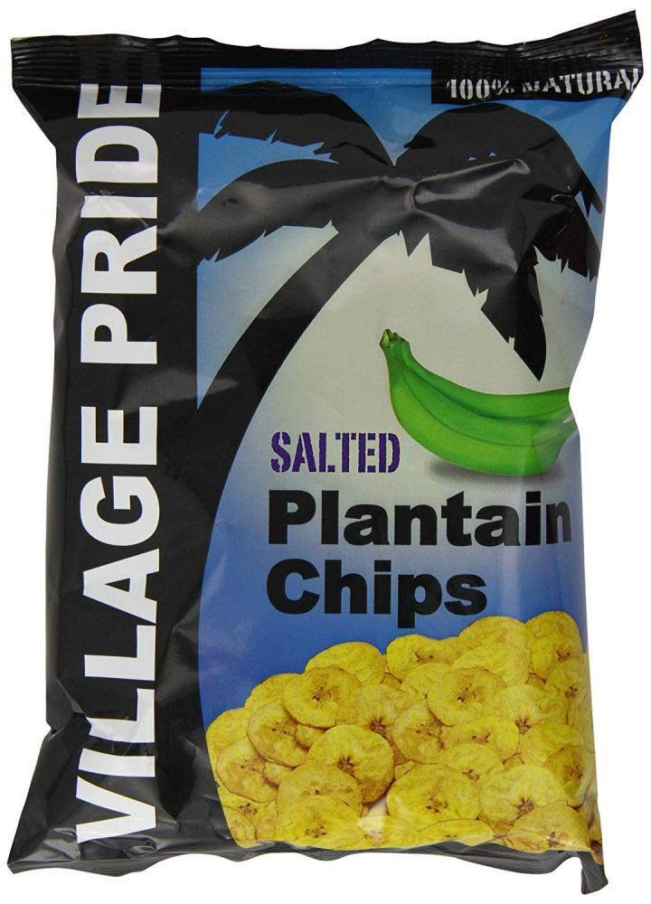 Village Pride Plantain Chips Salted 75g