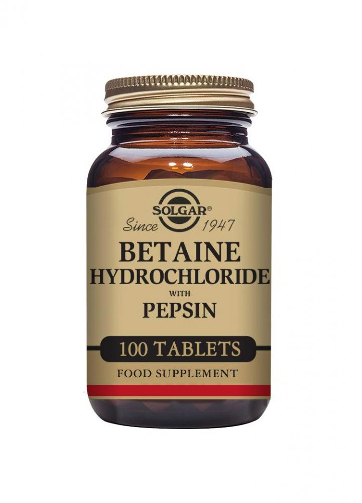 Solgar Betaine Hydrochloride with Pepsin Tablets Pack of 100