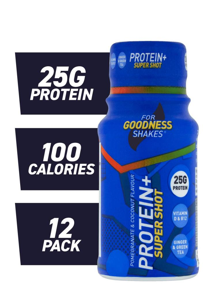 WEEKLY DEAL  For Goodness Shakes Protein plus Super Shot Pomegranate and Coconut 60 ml