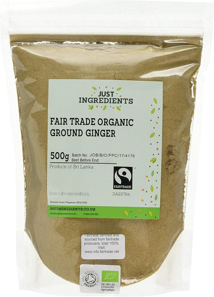 Just Ingredients Fair Trade Organic Ground Ginger 500g