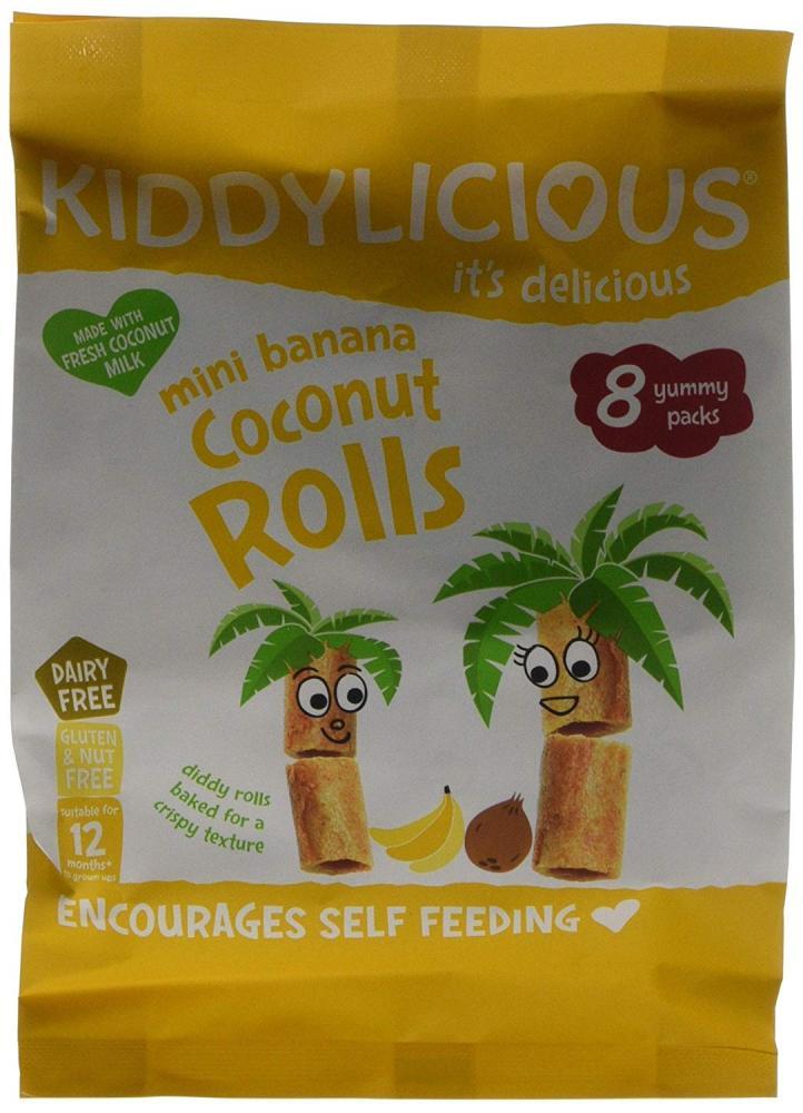 Kiddylicious Mini Banana Coconut Roll 54g
