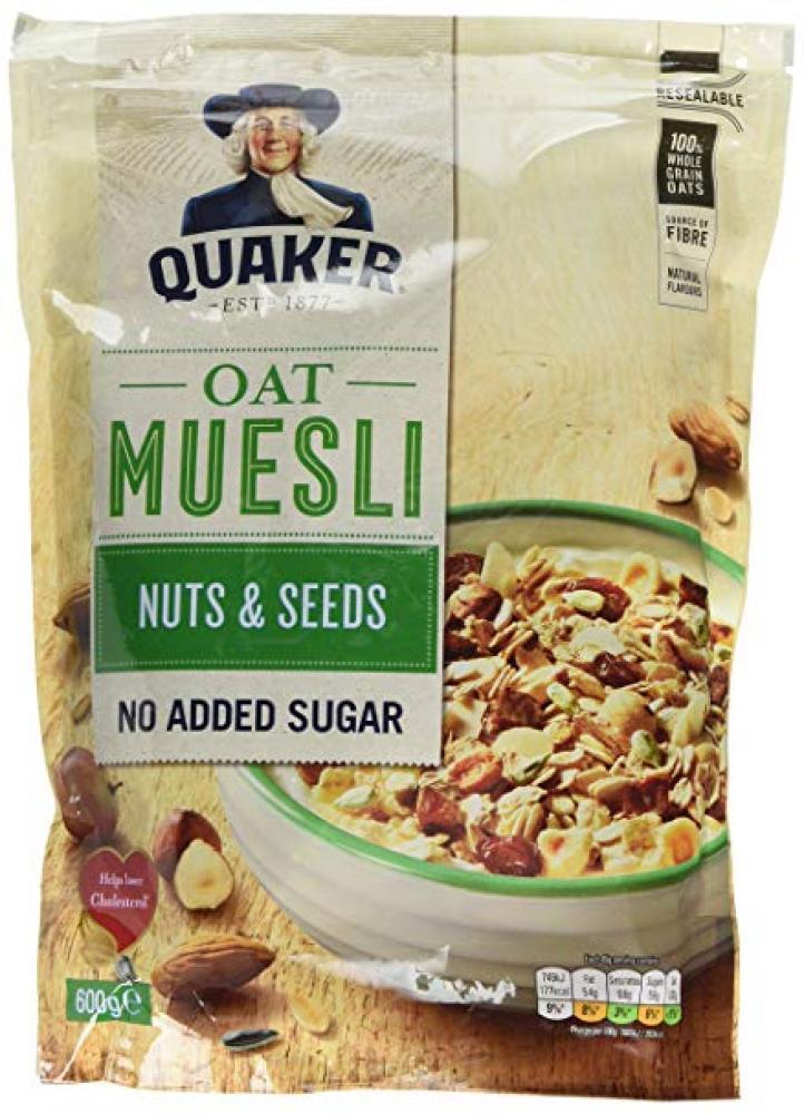 Quaker Oats Nuts and Seeds Muesli 600g