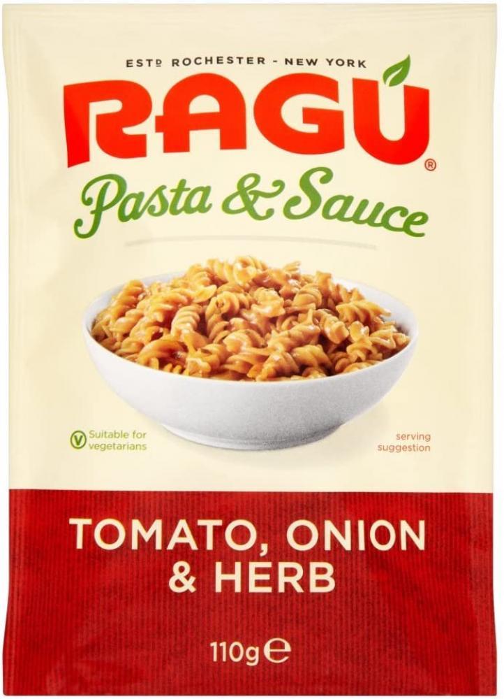 Ragu Pasta and Sauce Tomato Onion and Herb 110g