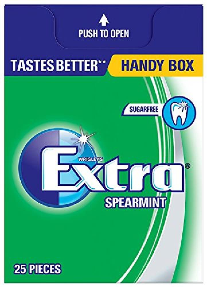 Wrigleys Extra Spearmint Sugarfree Chewing Gum Handy Box 35g