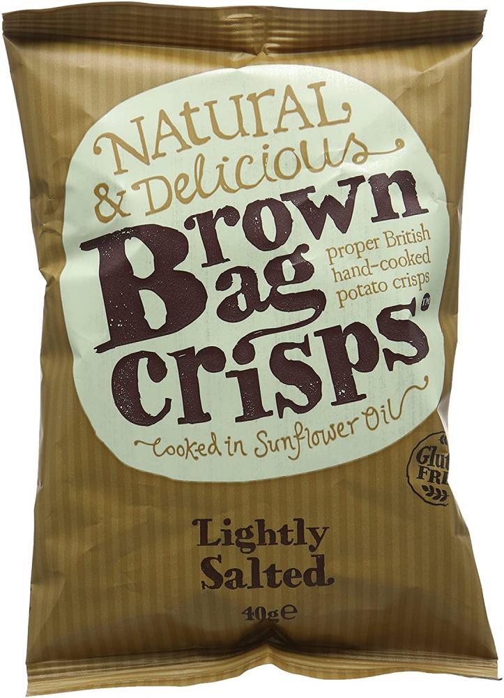 Brown Bag Crisps Lightly Salted 40g