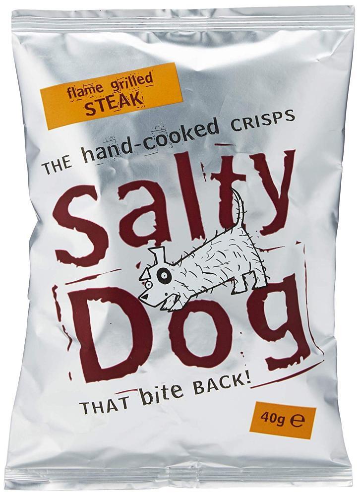 Salty Dog Flame Grilled Steak Crisps 40 g