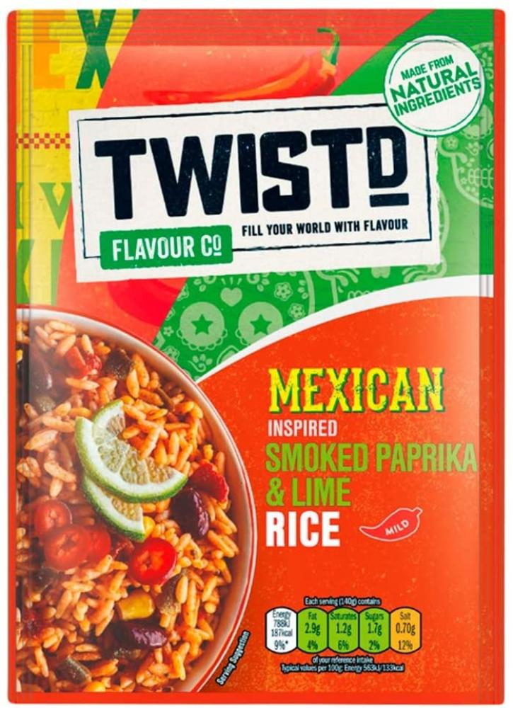 Twist Flavour Company Mexican Inspired Smoked Paprika and Lime Rice 105 g